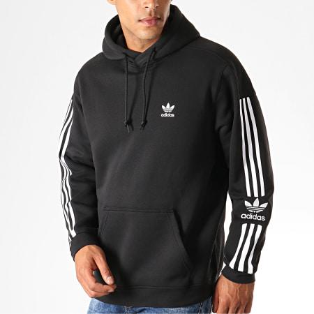 adidas - Sweat Capuche A Bandes Tech ED6124 Noir Blanc