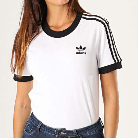 t-shirt adidas blanc femme
