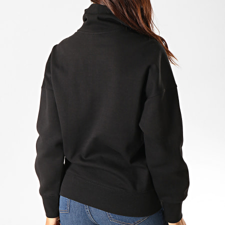 adidas - Sweat Col Zippé Femme A Bandes Lock Up ED7526 Noir Blanc