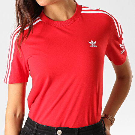 adidas - Tee Shirt Femme Lock Up ED7531 Rouge Blanc