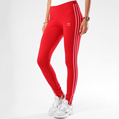 adidas - Legging Femme 3 Stripes Tight ED7577 Rouge Corail ...