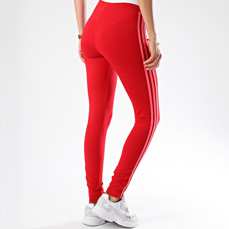 adidas Legging Femme 3 Stripes Tight ED7577 Rouge Corail