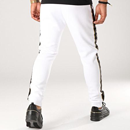 Final Club - Pantalon Jogging Gold Label Avec Bandes Et Broderie Or 277 Blanc