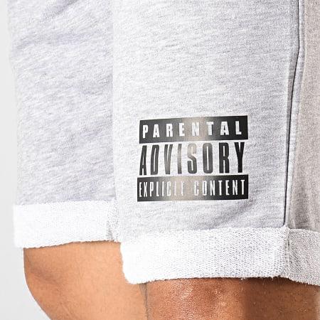 Parental Advisory - Short Jogging Logo Gris Chiné