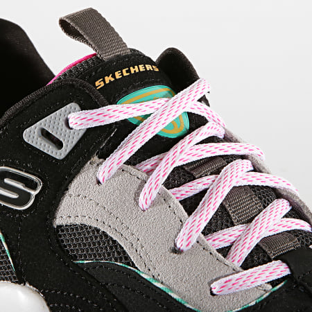 Skechers Baskets Femme D'Lites 3 0 Ocean Cloud 13377 Black