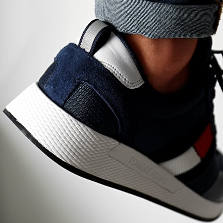 Tommy Jeans - Baskets Flag Flexi Sneakers Ink