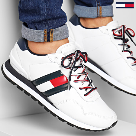 Tommy Jeans - Baskets Leather Lifestyle Sneaker EM0EM00349 White