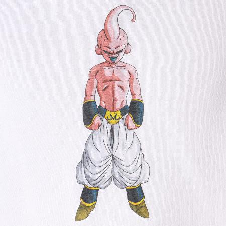 Dragon Ball Z - Sweat Capuche A Bandes Buu Blanc Noir