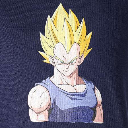 Dragon Ball Z - Sweat Capuche A Bandes Vegeta Bleu Marine Blanc