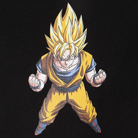 Dragon Ball Z - Sweat Capuche A Bandes Goku Noir Blanc