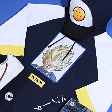 Dragon Ball Z - Sweat Capuche Brodé Vegeta Bleu Marine Blanc