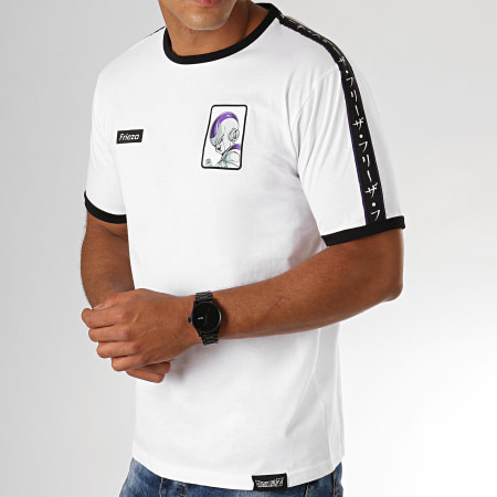 Dragon Ball Z - Tee Shirt A Bandes Frieza Blanc