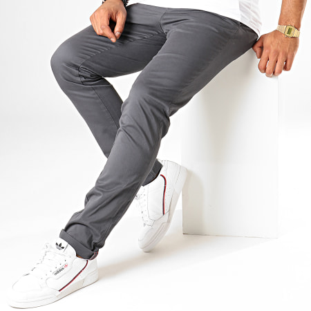 Jack And Jones - Pantalon Chino Marco Bowie Gris Anthracite