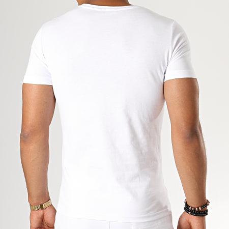 John H - Ensemble Tee Shirt Short ESH06-ES06 Blanc