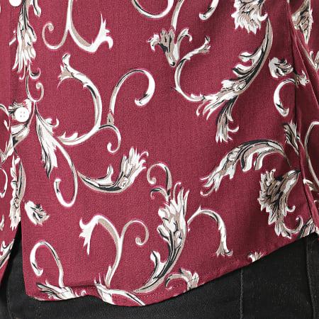 Mackten - Chemise Manches Courtes Floral 222422 Bordeaux