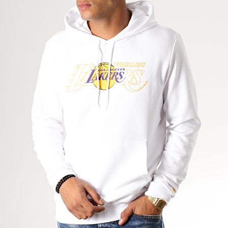 New Era - Sweat Capuche NBA Graphic Overlap Los Angeles Lakers 12033465 Blanc