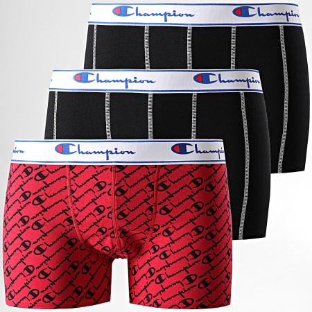 Champion - Lot De 2 Boxers Y081W Noir Rouge