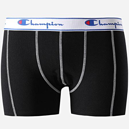 Champion - Lot De 3 Boxers Y081T Noir Bleu Gris
