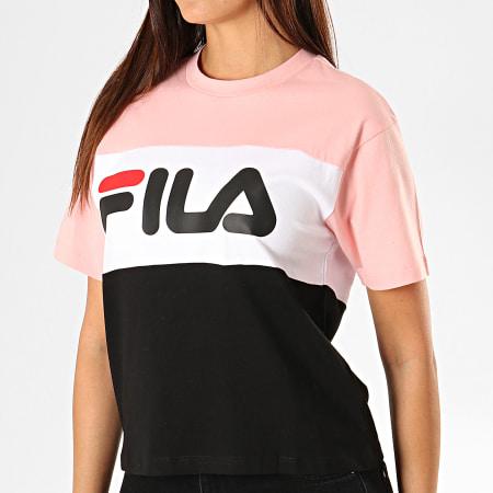 Fila - Tee Shirt Femme Allison 682125 Rose Blanc Noir