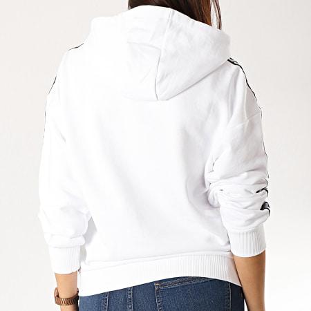 Fila - Sweat Capuche A Bandes Clara 687073 Blanc