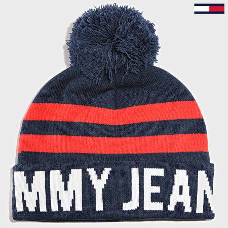 Tommy Hilfiger Jeans - Bonnet Bold Logo Bleu Marine Rouge