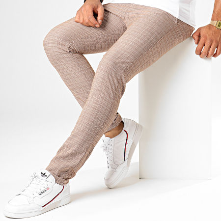 Classic Series - Pantalon Chino M-3185 Marron Blanc