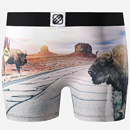 Freegun - Boxer Print Bisons Noir