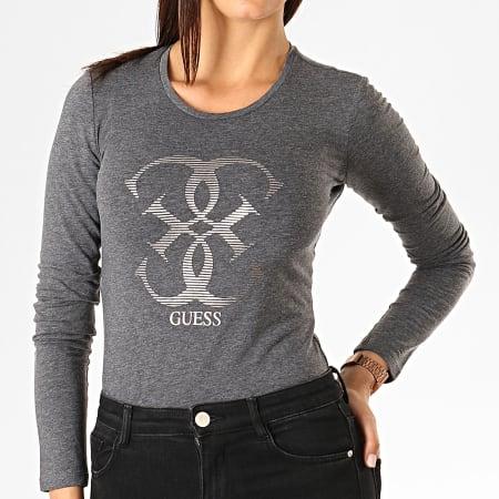 Guess - Tee Shirt Manches Longues Femme W94I95-J1300 Gris Chiné