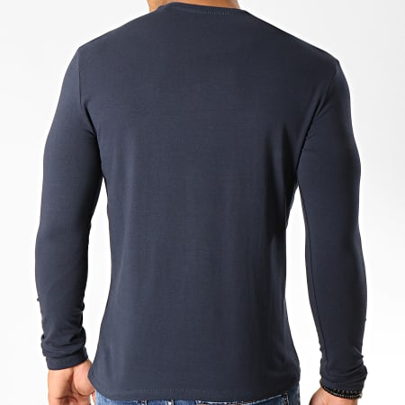 Guess - Tee Shirt Manches Longues M94I34-J1300 Bleu Marine