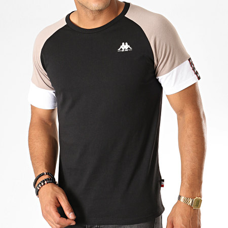 Kappa - Tee Shirt Authentic Iriami 304TDP0 Noir Gris Blanc