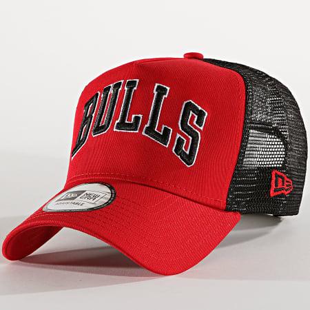 New Era - Casquette Trucker Reverse Team 12040248 Chicago Bulls Rouge Noir