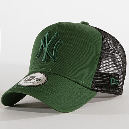 New Era - Casquette Trucker League Essential A-Frame 12040413 New York Yankees Vert Anglais