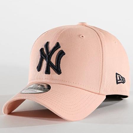 New Era - Casquette Baseball 9Forty League Essential New York Yankees 12040434 Rose Pâle Bleu Marine