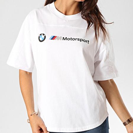 Puma - Tee Shirt Femme BMW Motorsport Logo 595724 Blanc