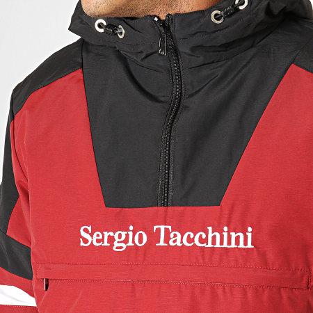 Sergio Tacchini - Veste Zippée Capuche Defoe Anorak 38366 Bordeaux Noir Blanc