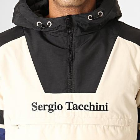 Sergio Tacchini - Veste Zippée Capuche Defoe Anorak 38366 Beige Noir Bleu