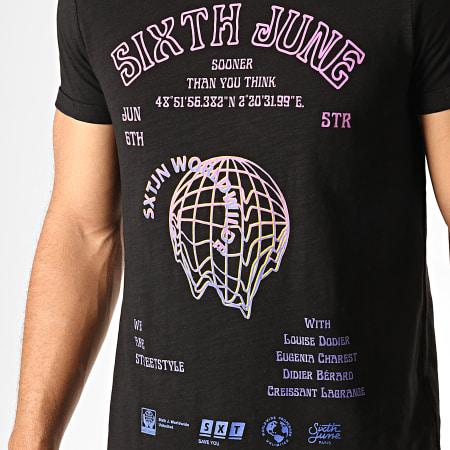 Sixth June - Tee Shirt Oversize 3857VTS Noir Chiné