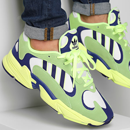 adidas - Baskets Yung-1 EG2922 Solar Green Real Purple Hi-Res Yellow