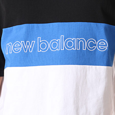 New Balance - Tee Shirt Athletic Classic 739400-60 Noir Bleu Roi Blanc