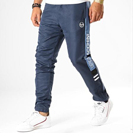 Sergio Tacchini - Pantalon Jogging A Bande Deane Bleu Marine