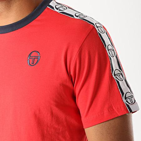 Sergio Tacchini - Tee Shirt A Bandes Dahoma 38315 Rouge Blanc Bleu Marine