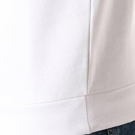 Sergio Tacchini - Sweat Crewneck A Bandes Delaco 38316 Blanc Bleu Marine Rouge