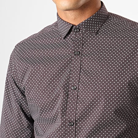 Jack And Jones - Chemise Manches Longues Blackpool Bordeaux