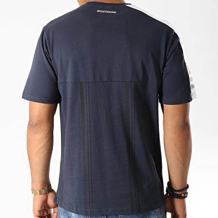 Sergio Tacchini - Tee Shirt Duman 38292 Bleu Marine Blanc Rouge