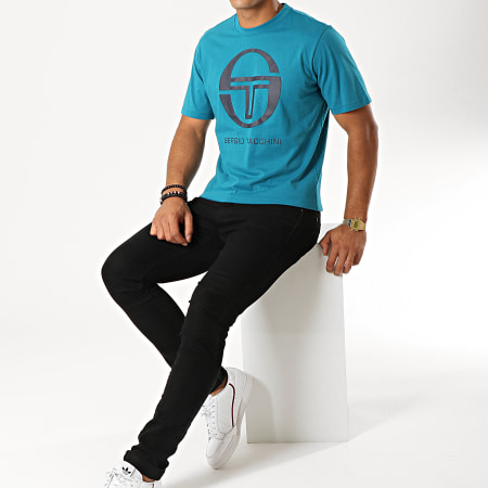 Sergio Tacchini - Tee Shirt Iberis 37740 Bleu Canard Bleu Marine
