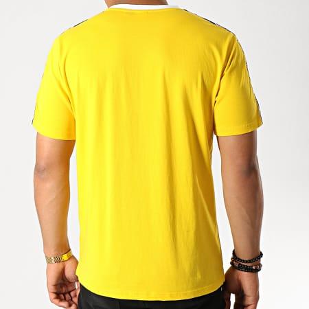 Sergio Tacchini - Tee Shirt A Bandes Dahoma 38315 Jaune Bleu Marine Blanc
