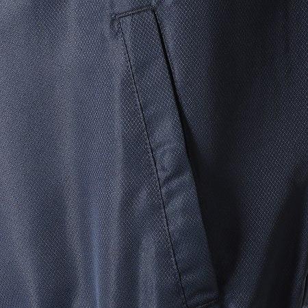 Sergio Tacchini - Veste Zippée A Bandes Doral 38409 Jaune Bleu Marine Blanc