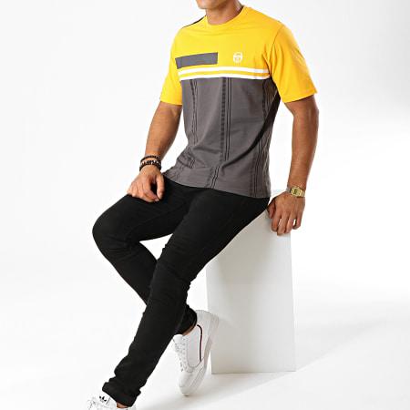 Sergio Tacchini - Tee Shirt Duman 38292 Gris Jaune Noir Blanc