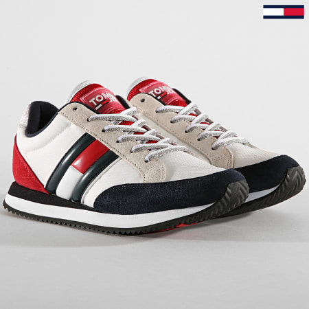 Tommy Hilfiger Jeans - Baskets Femme Casual Retro Sneaker EN0EN00644 Red White Blue
