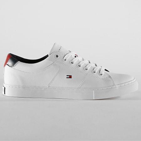 Tommy Hilfiger Jeans - Baskets Essential Leather Collar Vulcan FM0FM02577 White